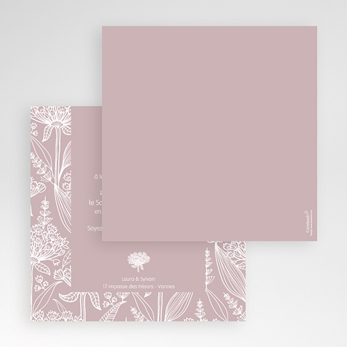 Faire-Part Mariage Pochette carré - Douceur romantique 48668 preview