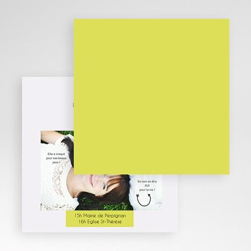 Faire-Part Mariage Pochette carré - Parlez-moi d'amour 48672 thumb