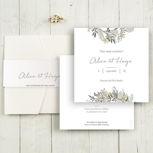 Faire-Part Mariage Pochette carré - Marions-nous ! 48687 thumb