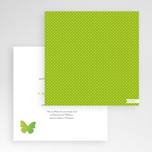 Faire-Part Mariage Pochette carré Papillons Pop de couleur