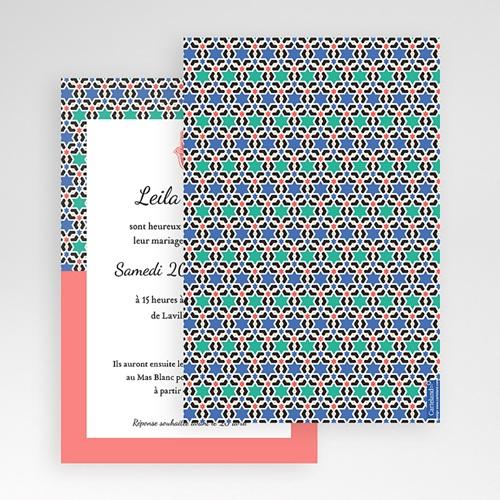 Faire Part Mariage Pochette rectangulaire - Oriental Style 48710 thumb