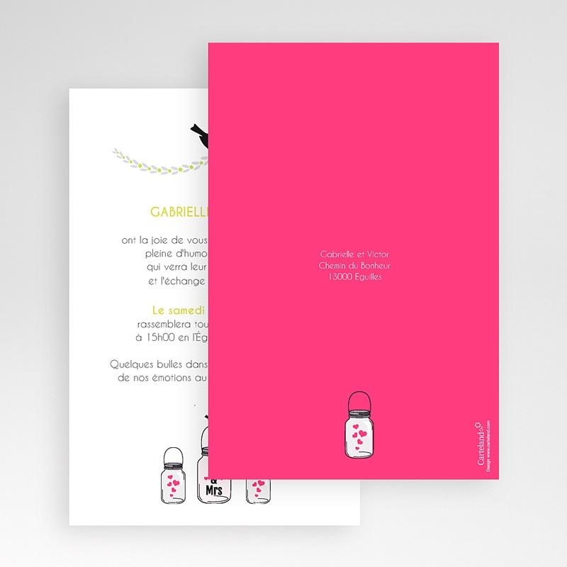 Faire Part Mariage Pochette rectangulaire - Flacons d'amour 48714 thumb