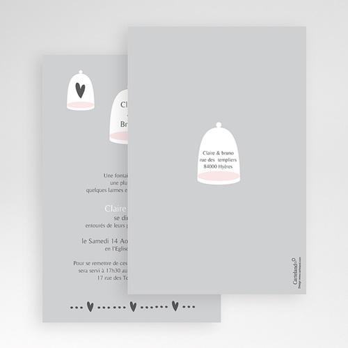 Faire Part Mariage Pochette rectangulaire - Amour illuminé 48718 preview
