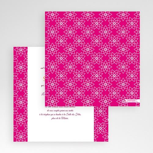 Faire-Part Mariage Pochette carré - Lotus 48736 preview