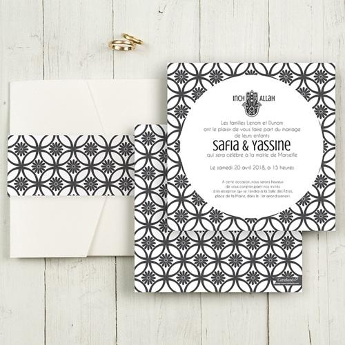 Faire-Part Mariage Pochette carré - Ispahan 48741