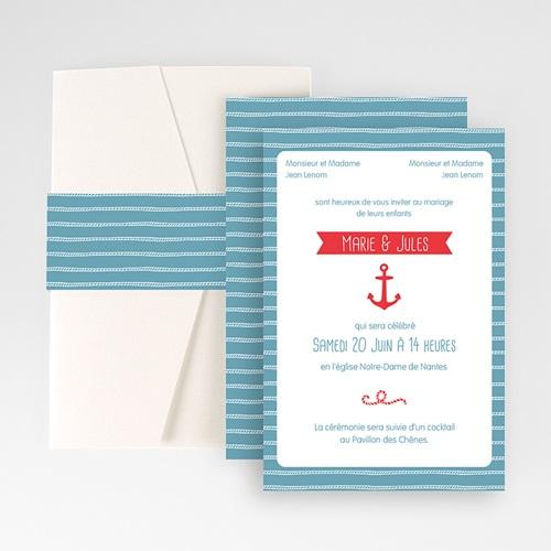 Faire Part Mariage Pochette rectangulaire - Vent Marin 48762 thumb