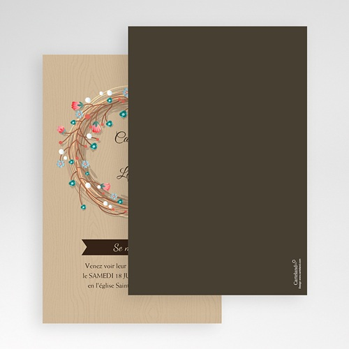 Faire Part Mariage Pochette rectangulaire - Esprit champêtre 48767 preview
