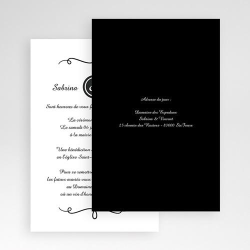 Faire Part Mariage Pochette rectangulaire - Elégant 48797 preview