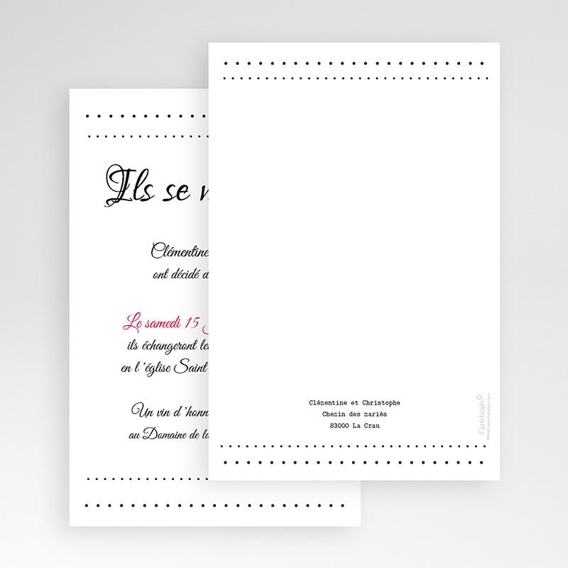 Faire Part Mariage Pochette rectangulaire - Elégance 48798 thumb