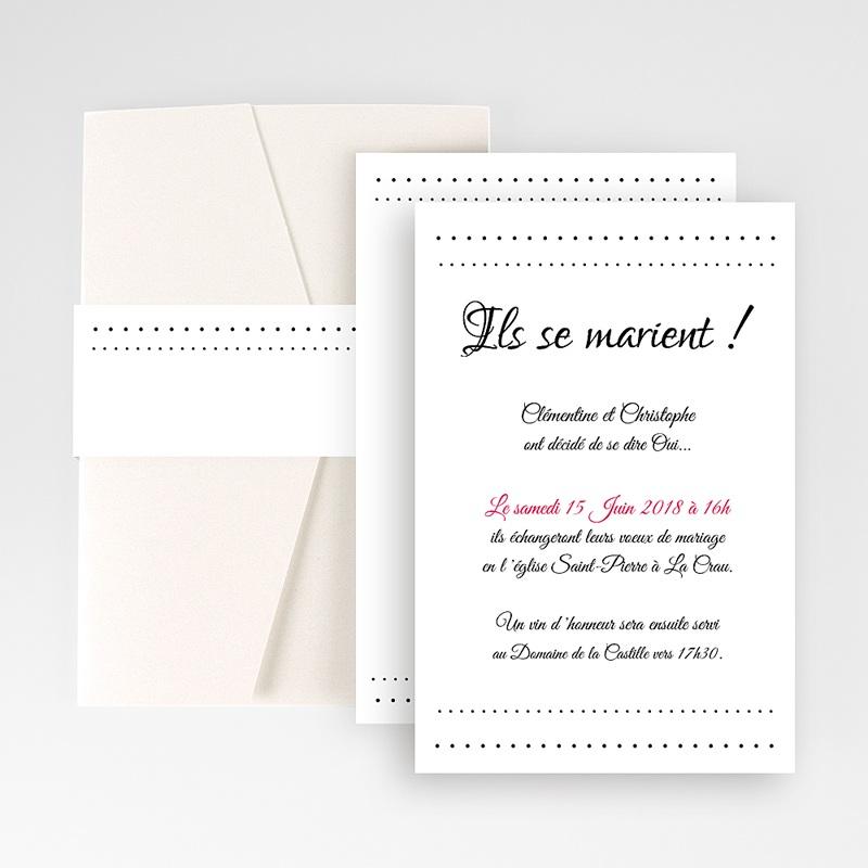Faire Part Mariage Pochette rectangulaire - Elégance 48800 thumb