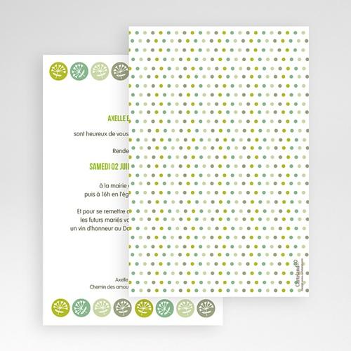 Faire Part Mariage Pochette rectangulaire - Fleurs champêtres 48811 preview