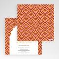 Faire-Part Mariage Pochette carré - Extrême Oriental 48837 thumb