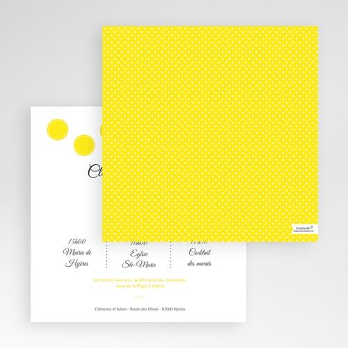Faire-Part Mariage Pochette carré - Citron Flambloyant 48849 preview