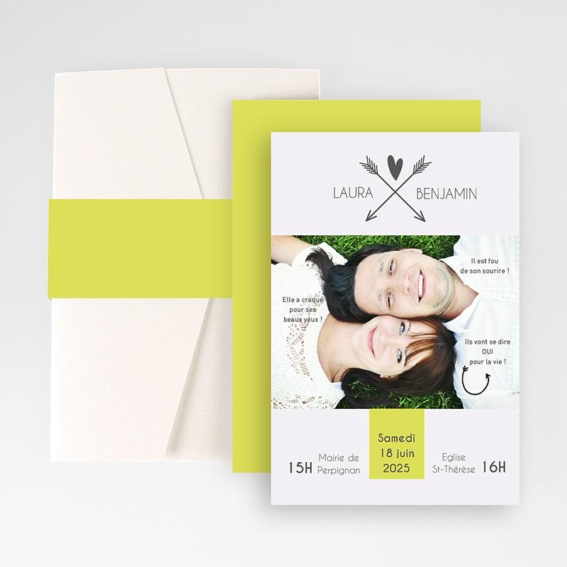 Faire Part Mariage Pochette rectangulaire - Petits mots d'amour 48854 thumb