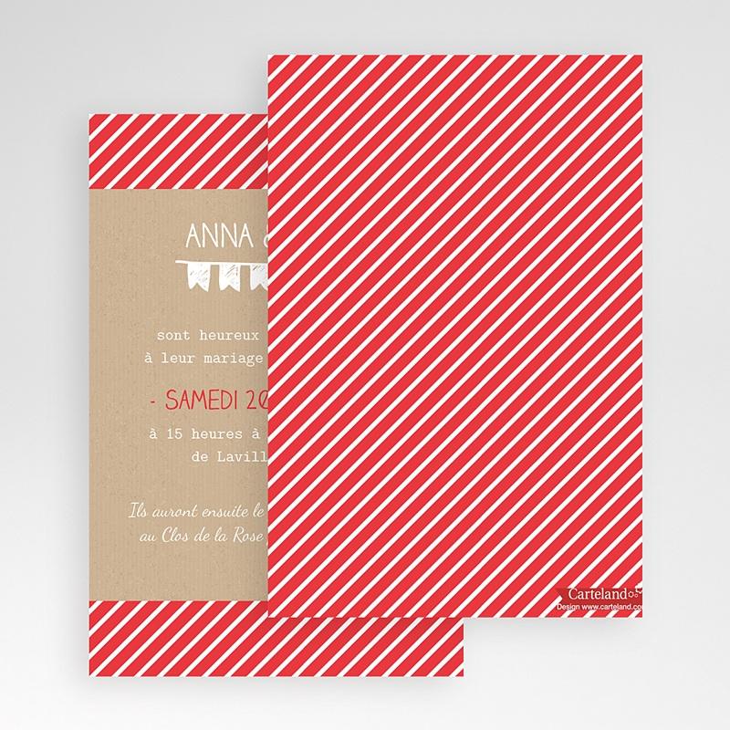 Faire Part Mariage Pochette rectangulaire - Pop Corn 48857 thumb