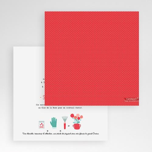 Faire-Part Mariage Pochette carré - Cultivons l'Amour 48869 thumb
