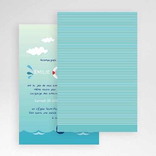 Faire Part Mariage Pochette rectangulaire - Faire-part Marin 48875 preview