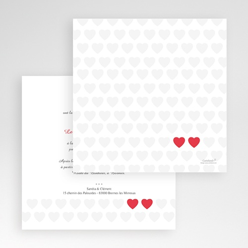 Faire-Part Mariage Pochette carré - Mon coeur, mon Amour 48887 thumb
