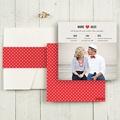 Faire-Part Mariage Pochette carré - Rouge Vintage 48898 thumb