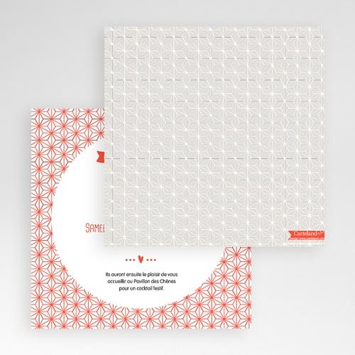 Faire-Part Mariage Pochette carré - Origami 48899 thumb