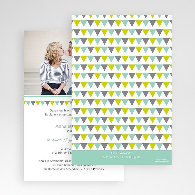 Faire Part Mariage Pochette rectangulaire - Jolis triangles 48933 thumb