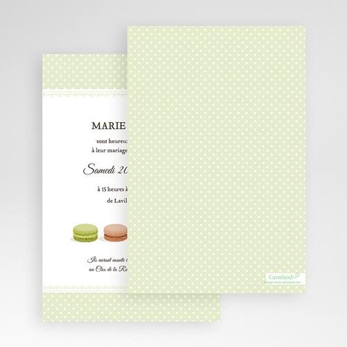 Faire Part Mariage Pochette rectangulaire - Amour de macaron 48939 thumb