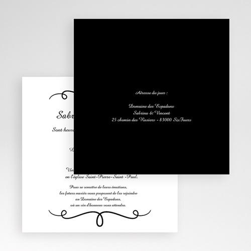 Faire-Part Mariage Pochette carré - Elégant 48943 preview
