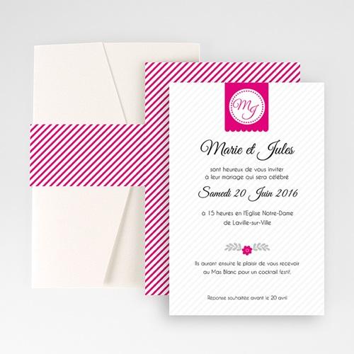 Faire Part Mariage Pochette rectangulaire - Simple et chic 48946