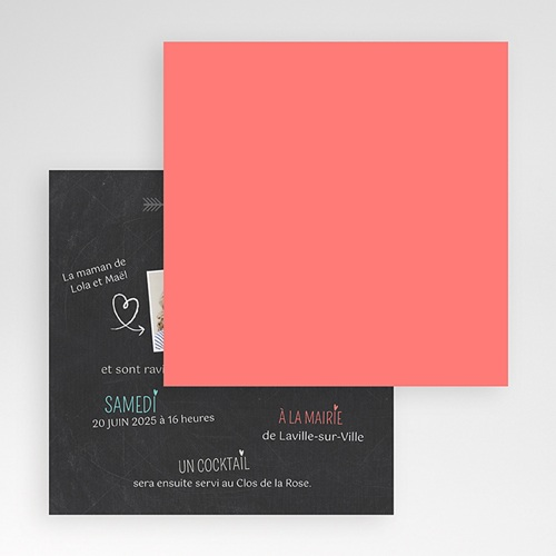 Faire-Part Mariage Pochette carré - Vive les parents 48951 preview