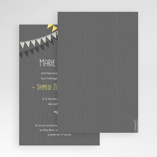 Faire Part Mariage Pochette rectangulaire - Soir d'Eté 48973 thumb