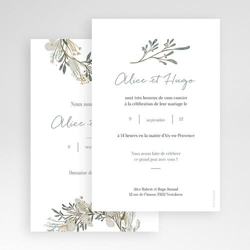 Faire Part Mariage Pochette rectangulaire - Marions-nous ! 48993 thumb