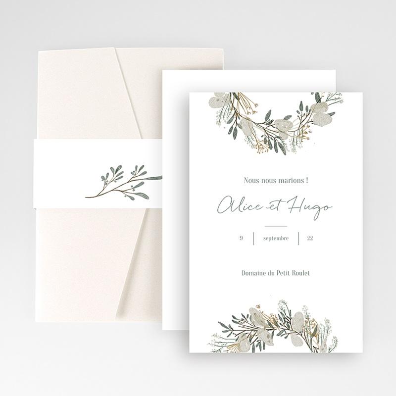 Faire Part Mariage Pochette rectangulaire - Marions-nous ! 48994 thumb
