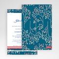 Faire Part Mariage Pochette rectangulaire - Style Aubusson 48999 thumb