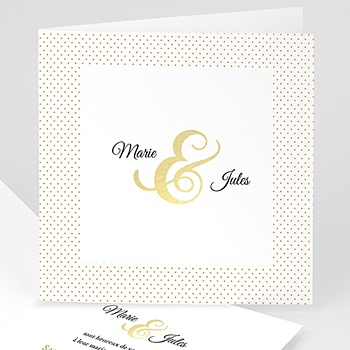 Faire-part mariage sans photo Esperluette jaune