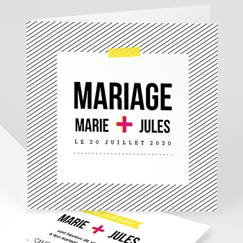 Faire-Part Mariage Personnalisés - Flashy - 0