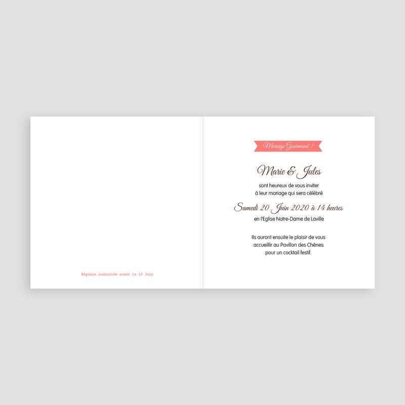 Faire part mariage gourmandise - Gourmandises 49053 thumb