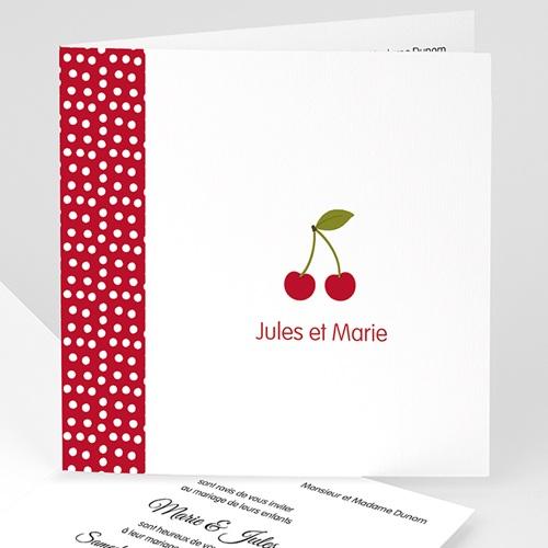 Faire-Part Mariage Personnalisés - Cerises 49058