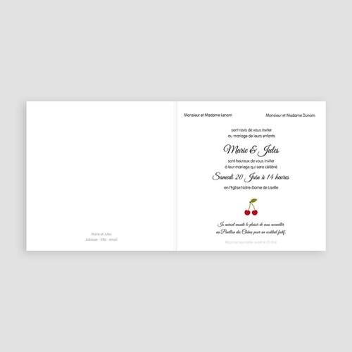 Faire-Part Mariage Personnalisés - Cerises 49059 preview