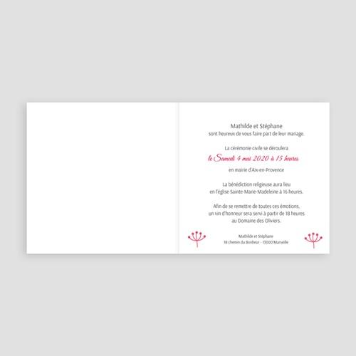 Faire-Part Mariage Personnalisés - Jeté de fleurs 49071 preview