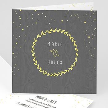 Faire-Part Mariage sans photo - Ambiance confettis - 0