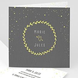 Faire-part mariage sans photo Ambiance confettis