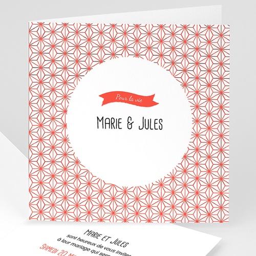 Faire-Part Mariage Personnalisés - Motif origami 49088