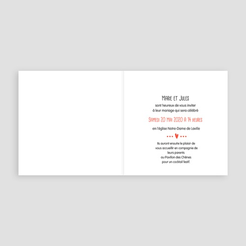 Faire-Part Mariage - Motif origami 49089 thumb