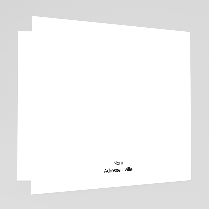 Faire-Part Mariage Rouge et Blanc Motif origami gratuit
