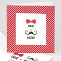 Faire-Part Mariage - Noeud et moustache - 5675