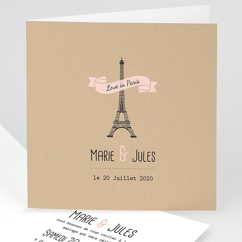 Faire Part Mariage Voyage - Paris 49124 thumb