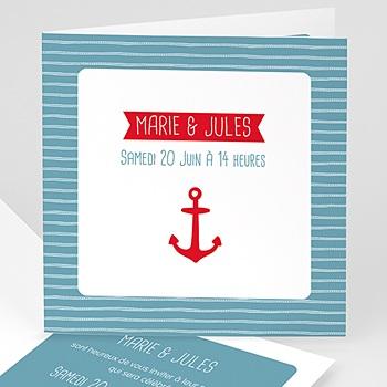 Faire-part mariage mer marinière