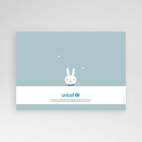 Faire-Part Naissance Garçon UNICEF Bleu tendre pas cher
