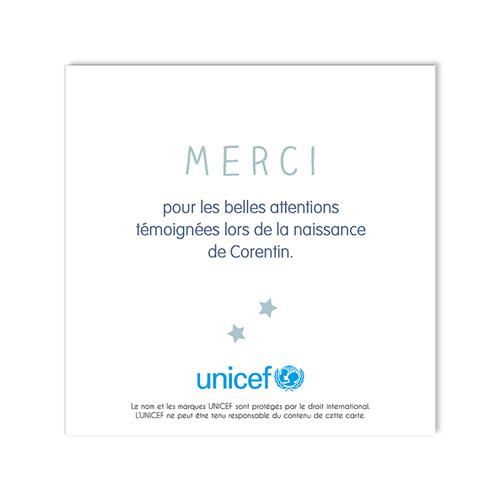 Remerciement Naissance UNICEF - Bleu tendre 49145 thumb