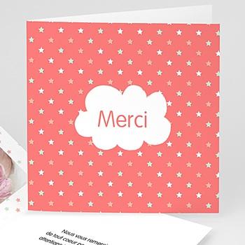 Achat carte remerciement naissance fille mon etoile